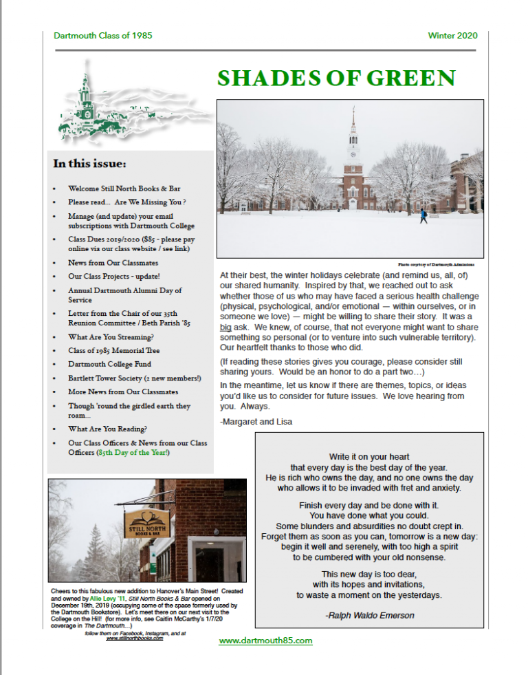 shades of green winter 2020
